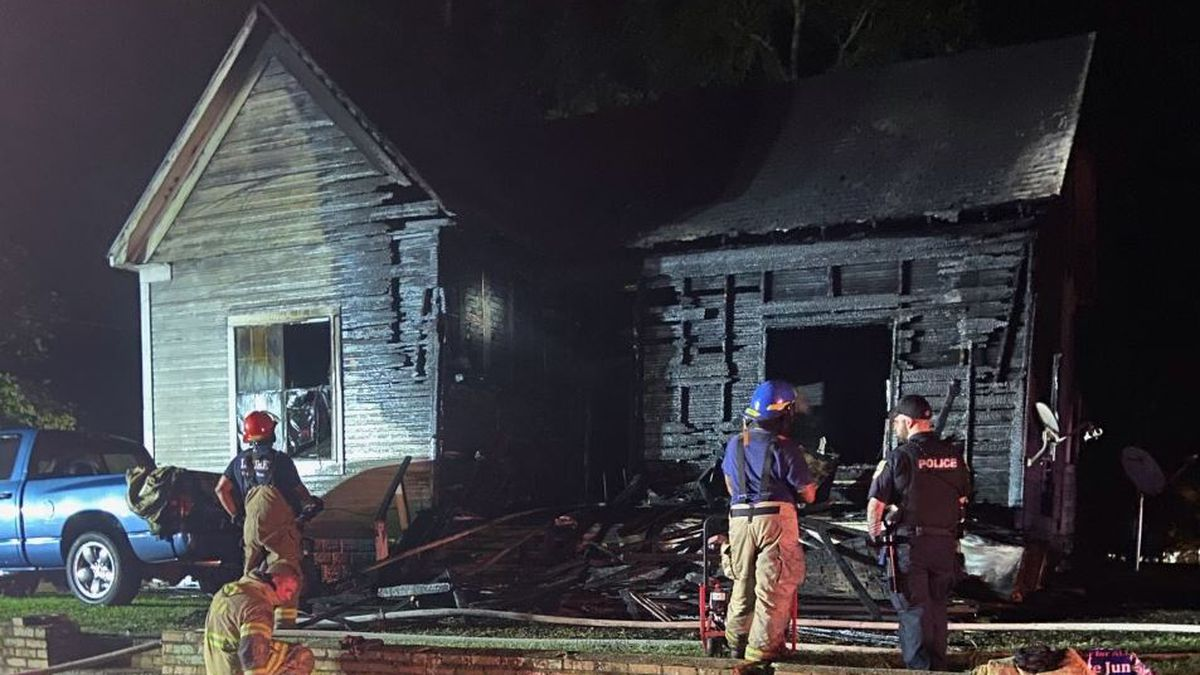 The fire happened on Arco Lane around 9 p.m. Tuesday.