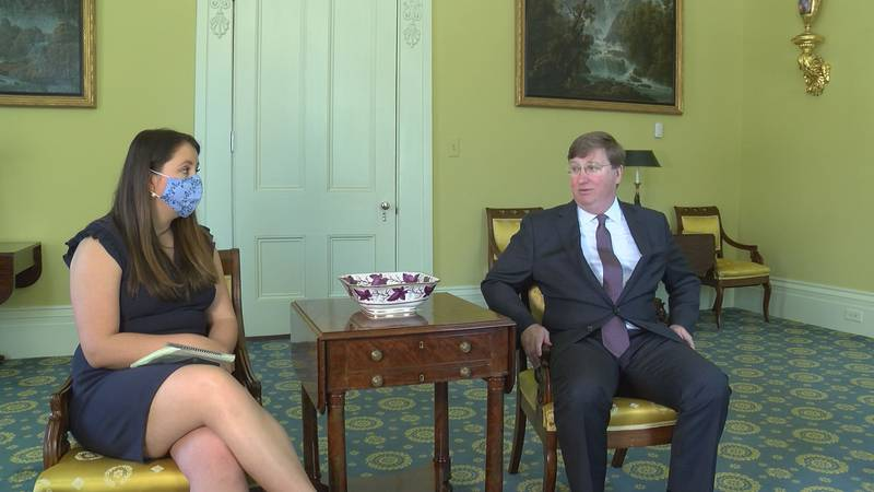 Governor Tate Reeves discusses year two of fighting COVID-19