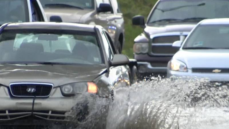 HPD officials give tips on safe driving during rainy days.