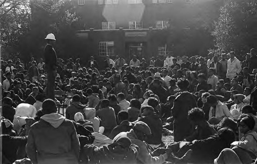 Wendell Paris, Sr. in the 1960s speaking at a voting rights rally