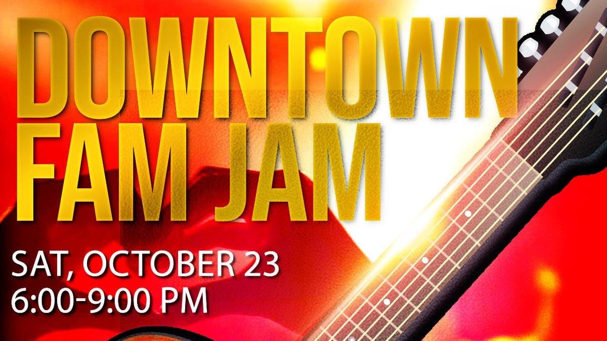 Third Fam Jam set for October 23.