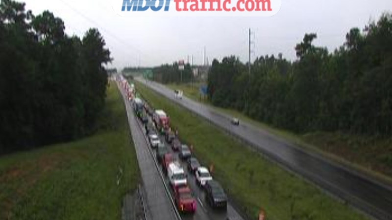 Traffic after multiple wrecks on the interstate.
