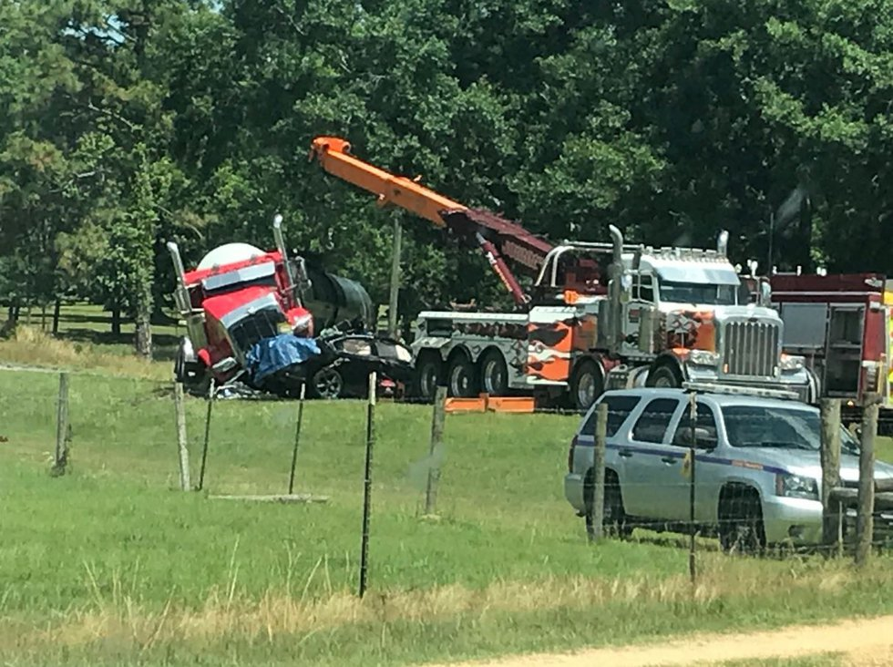 Officials with Mississippi Highway Patrol confirmone person died when an 18-wheeler tanker and...
