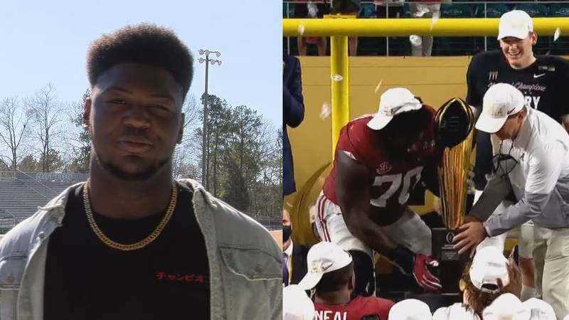 Byron Young, a former West Jones High School football player and now a defensive lineman at the...