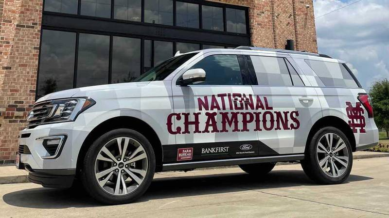 The Mississippi State CWS Trophy Tour is sponsored in part by Bank First, Mississippi Ford...