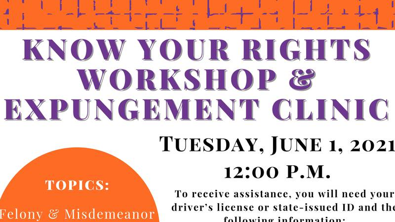 Participants will also find out if their charges are eligible for expungement, and if eligible,...