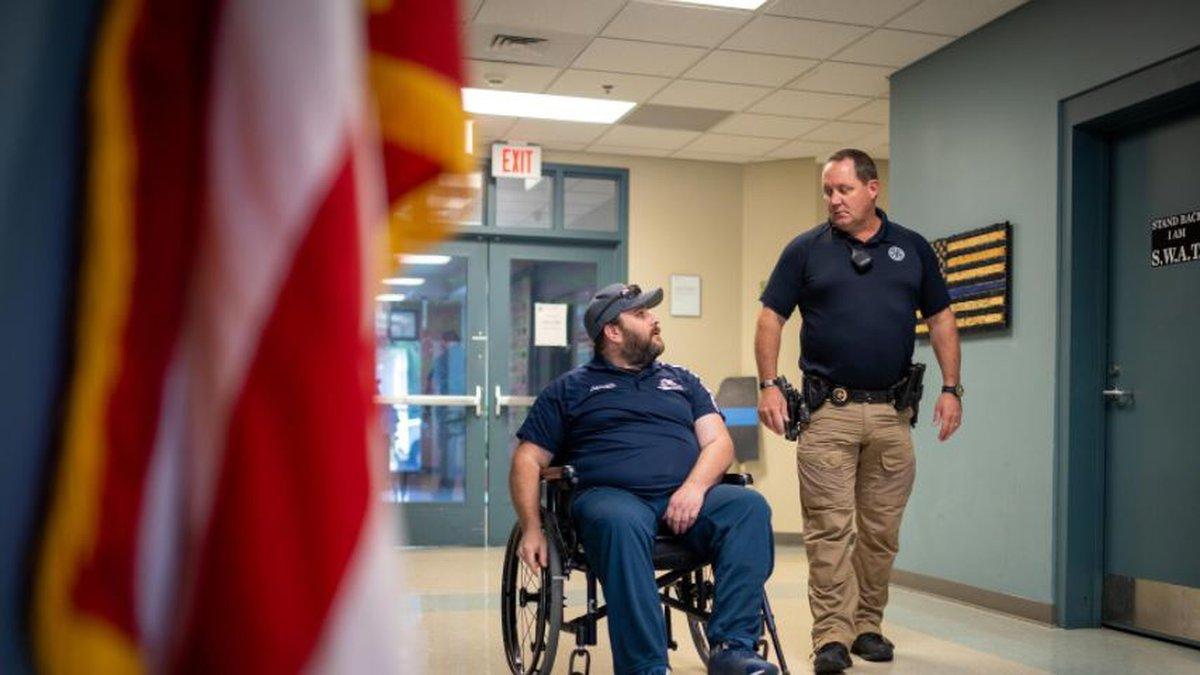 He was shot twice in the head and survived. Fellow deputies are now rallying to build a 'home...