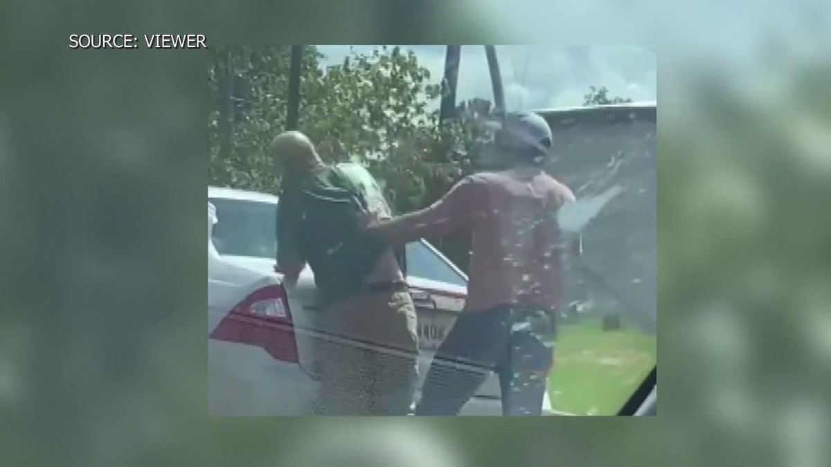 The video sent to WLBT shows the man being slapped.