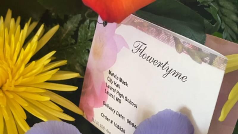 Flowers sent to city hall.