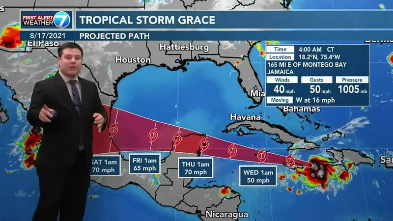 The tropics are among Tuesday's topics for WDAM 7 meteorologist Patrick Bigbie.