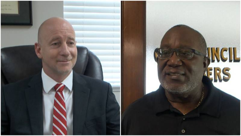 Incumbent Jason Capers (left) will face Ernest Hollingsworth (right) on Tuesday.