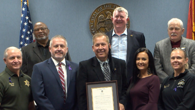 The Forrest County Board officially declares October Domestic Violence Awareness month.