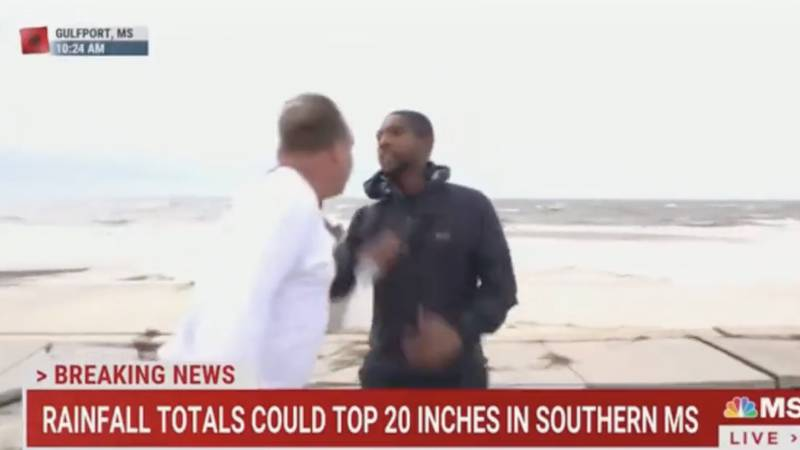 MSNBC journalist accosted on live TV while reporting on Ida in Gulfport, Mississippi