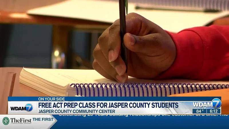 Jasper County Community Center is hosting a free ACT prep class.