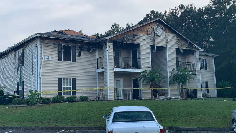 Firefighters responded to a call about the fire around 4:30 p.m. Saturday and worked to put out...