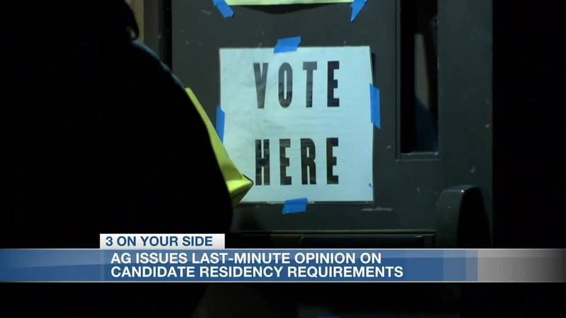 AG's 'last-minute' opinion on candidate residency requirements leaves election officials puzzled