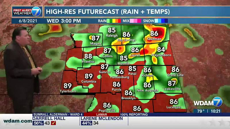 On Wednesday, there is a slight chance for a shower in the morning followed by a good chance...