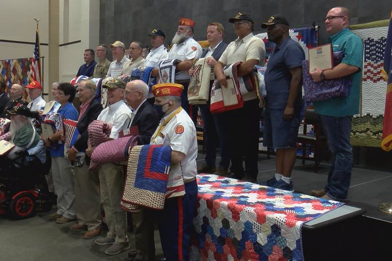 Twenty Pine Belt veterans were honored at a ceremony Saturday hosted by the Quilts of Valor...