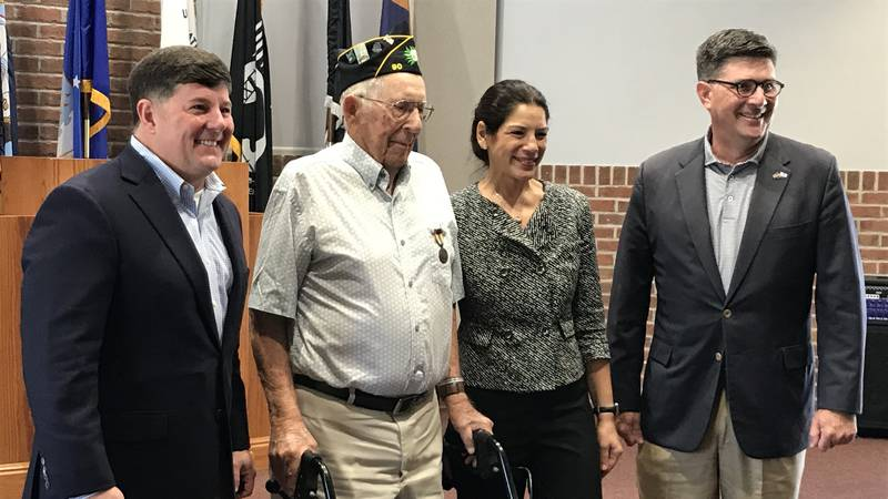 Henry Bennett was presented the Medal of a Liberated France during a ceremony at the veterans...