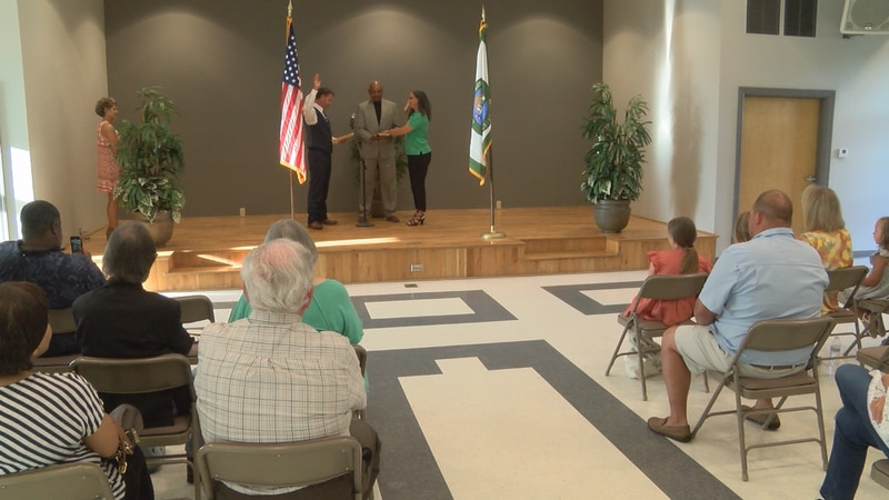Collins held a swearing-in ceremony Wednesday night.