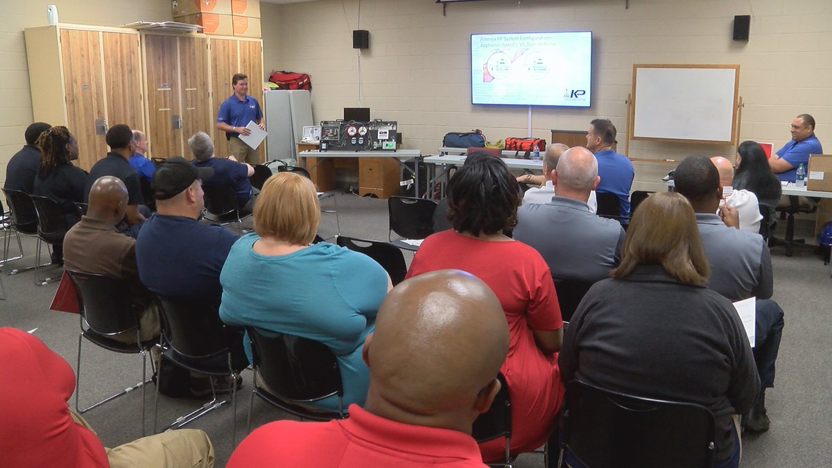 A class on new kitchen fire suppression equipment was held at the Hattiesburg Police and Fire...