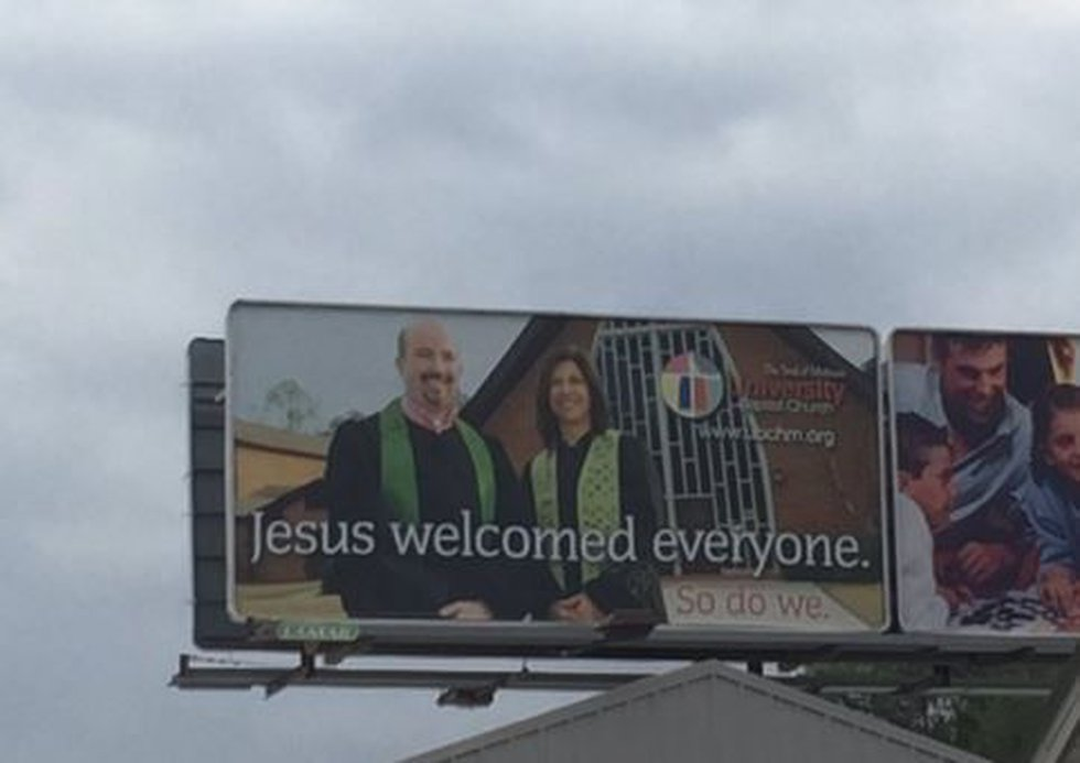 UBC billboard in Hattiesburg.