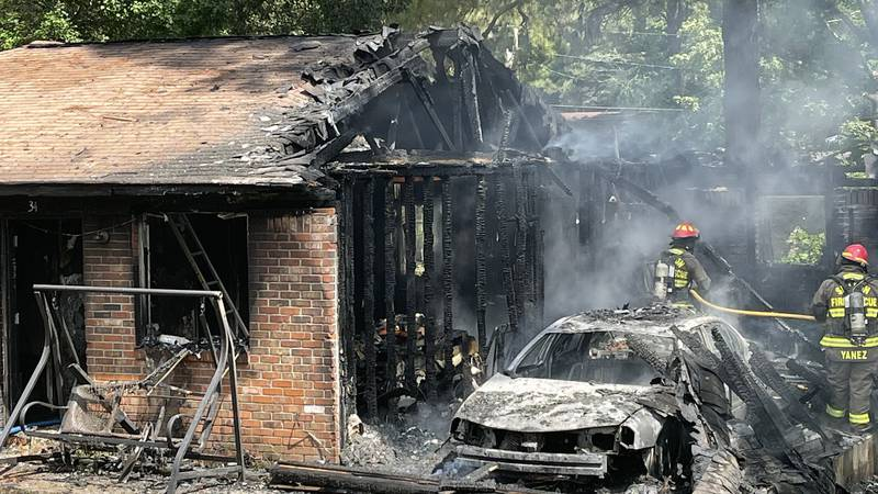 A house in Laurel suffered major fire damage Sunday morning.