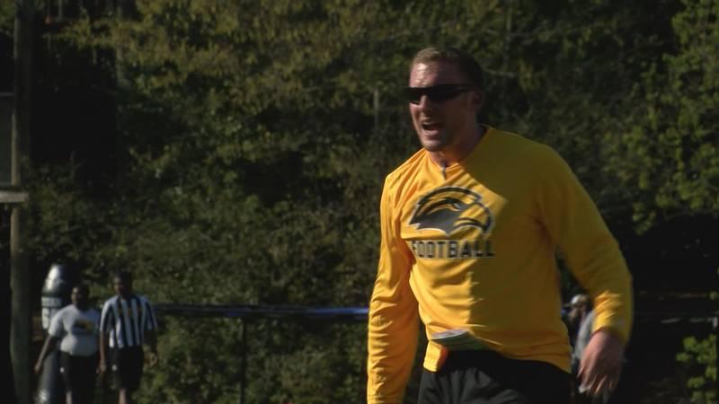 Scotty Walden, USM's co-offensive coordinator, becomes Golden Eagles interim head coach after...