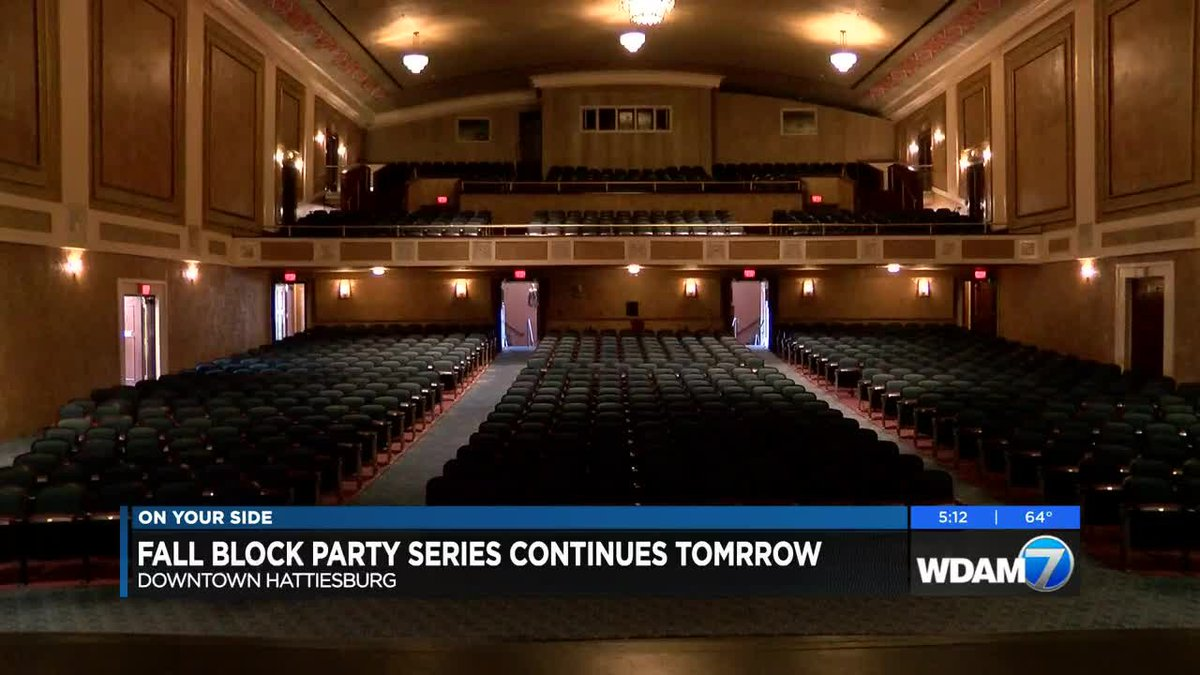 The Saenger Theater will host its share of the October fun in downtown Hattiesburg.