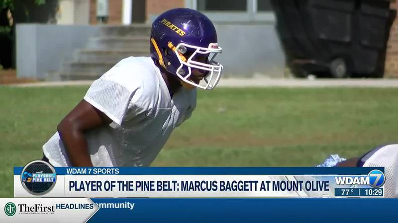 Mount Olive senior Marcus Baggett
