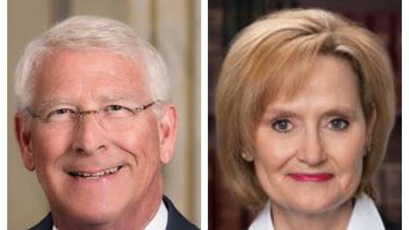 According to the offices of U.S. Senators Roger Wicker (R-Miss.) [left] and Cindy Hyde-Smith...