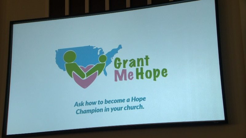 Foster-care advocacy group visited with Hardy Street Baptist Church congregation.