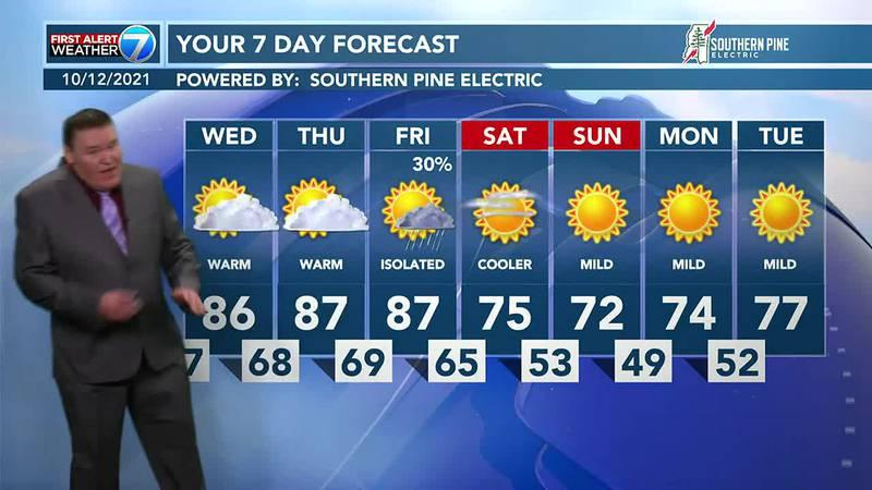 Rex Thompson's Tuesday evening forecast 10/12