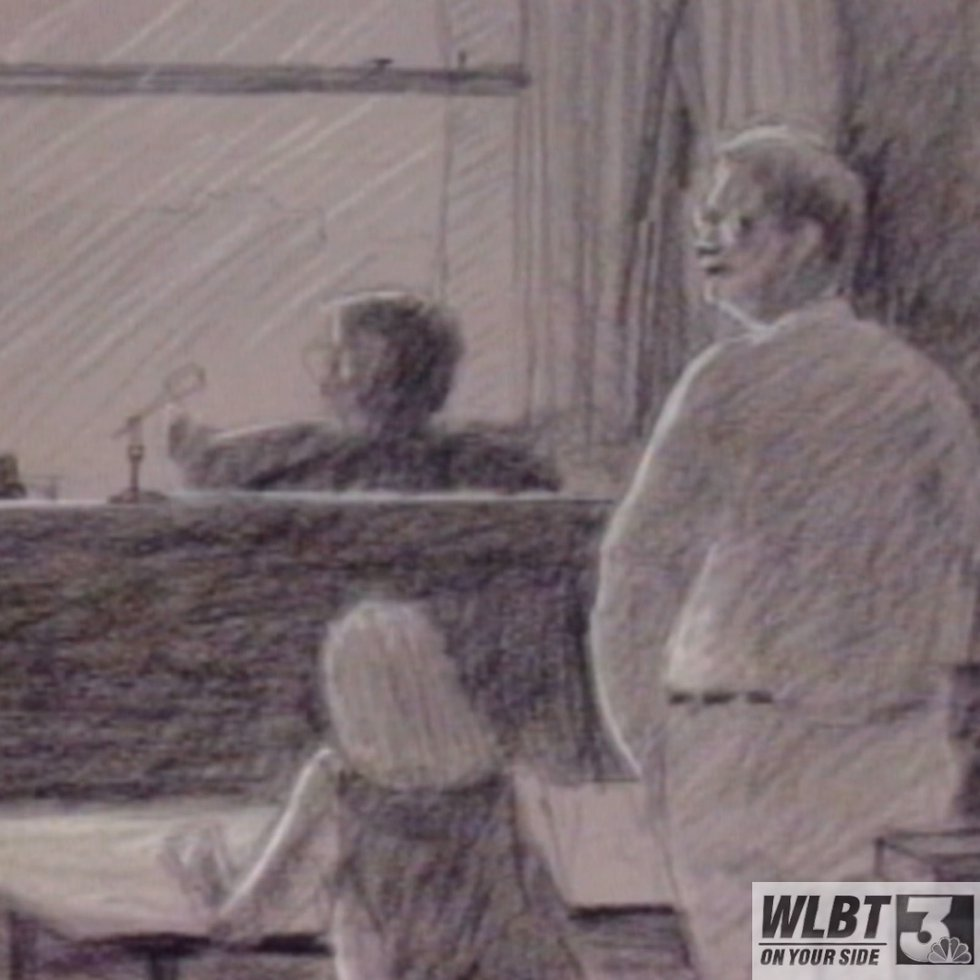 The electricity had gone off in the courtroom when Luke was found guilty of killing his mother,...