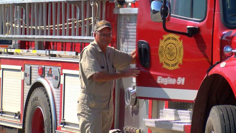 The donated supplies were given to fire officials during the church's Vacation Bible School...