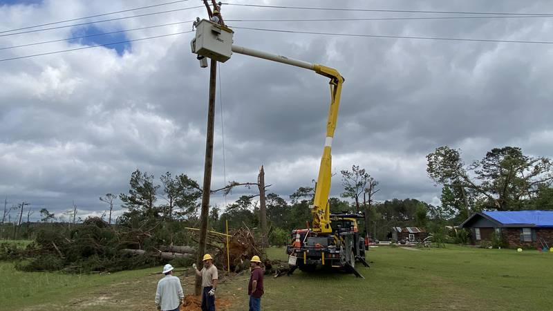 The arrival of Ida Sunday will necessitate the repair/restoration of power lines and poles...