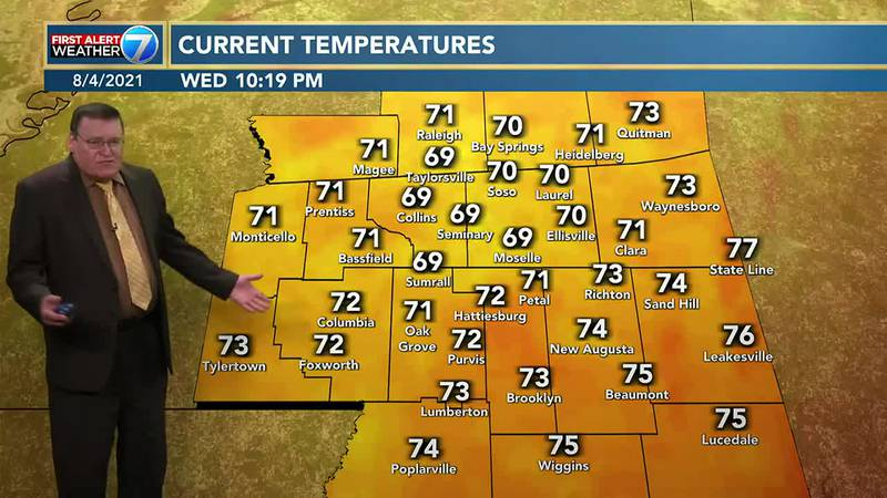 Mostly sunny and hot weather is expected on Thursday with highs in the lower 90s and lows in...