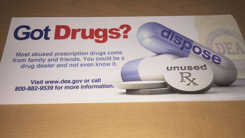 The event is held each year to help safely dispose of unneeded or expired medications that can...