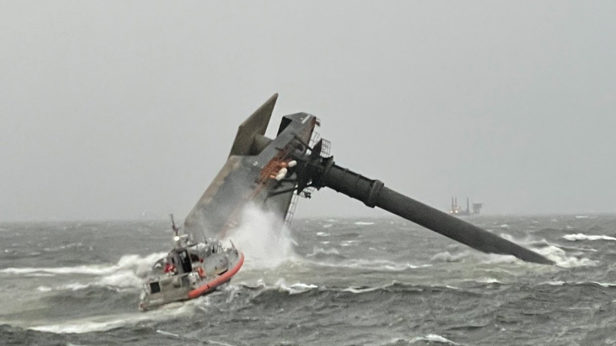 Search and rescue efforts are underway after a boat capsized off the coast of Port Fourchon...