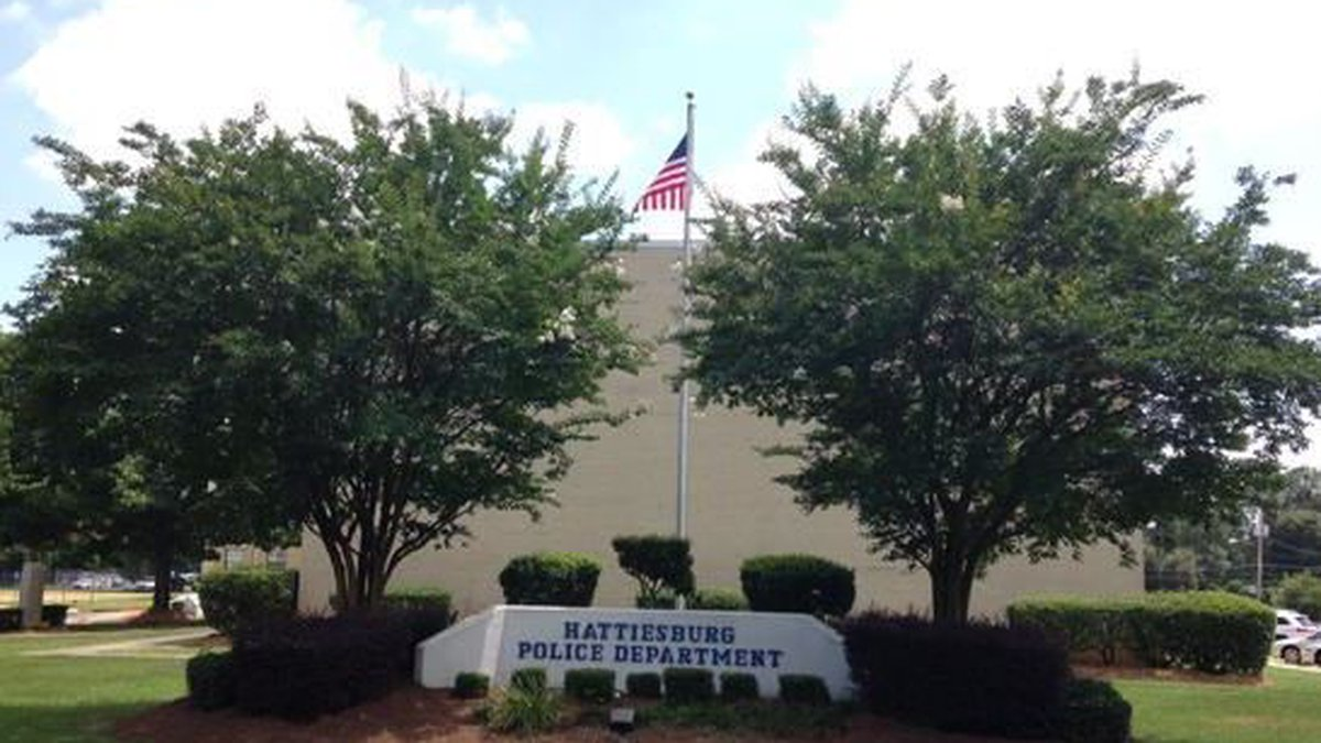 City of Hattiesburg Police Department with only the American Flag flying