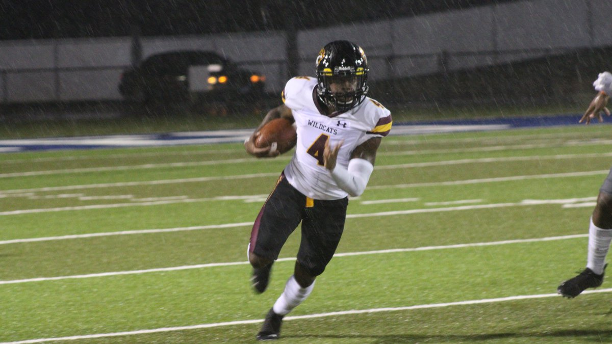 Pearl River Community College running back Chris Holifield turns upfield Thursday night at...