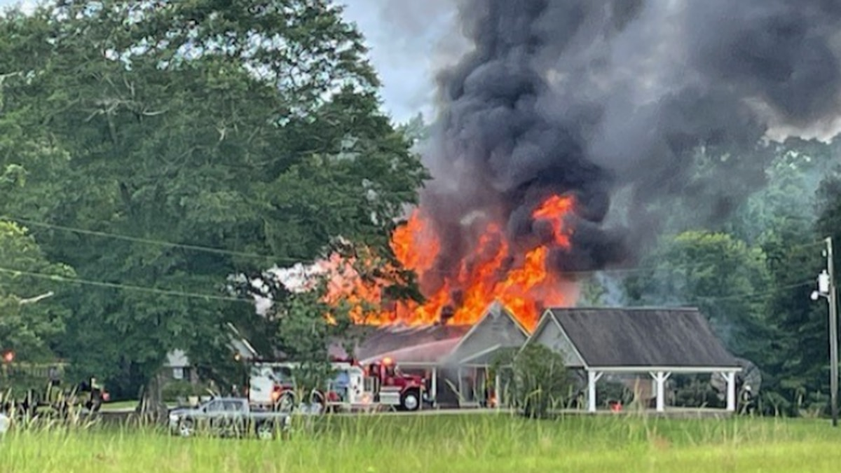 Firefighters responded to the fire around 6:29 p.m.