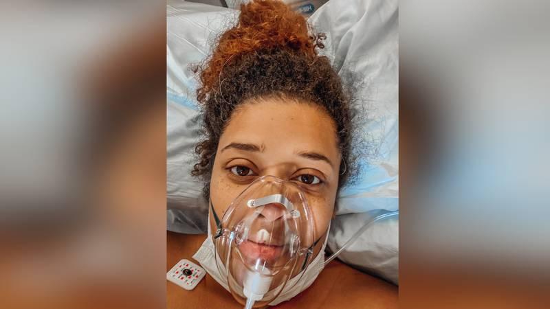 Cierra Nicole Abbington-Chubb was put on a ventilator after having an emergency c-section.
