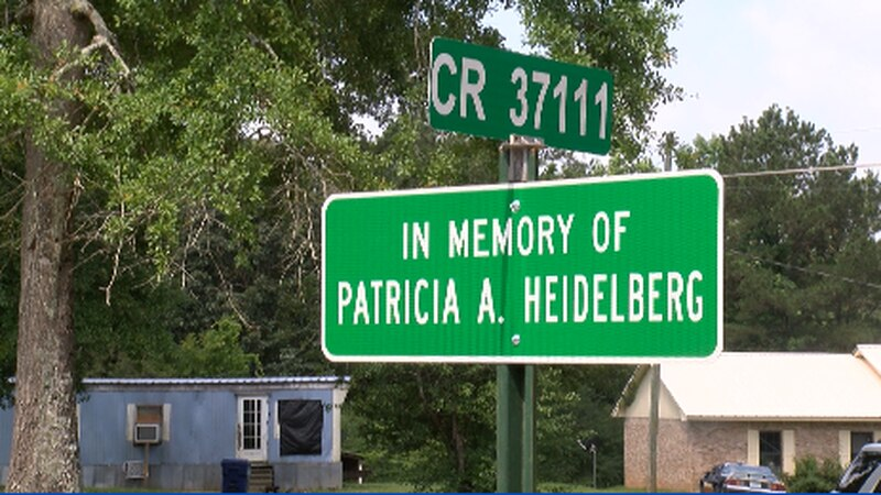 County Road 37111 in Jasper County was dedicated to the memory of Patricia Heidelberg.