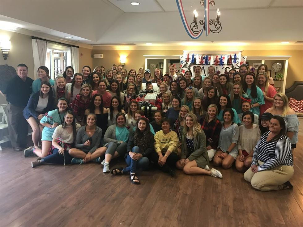 The ladies of Phi Mu Sorority on the University of Southern Miss campus hosted a dance for...