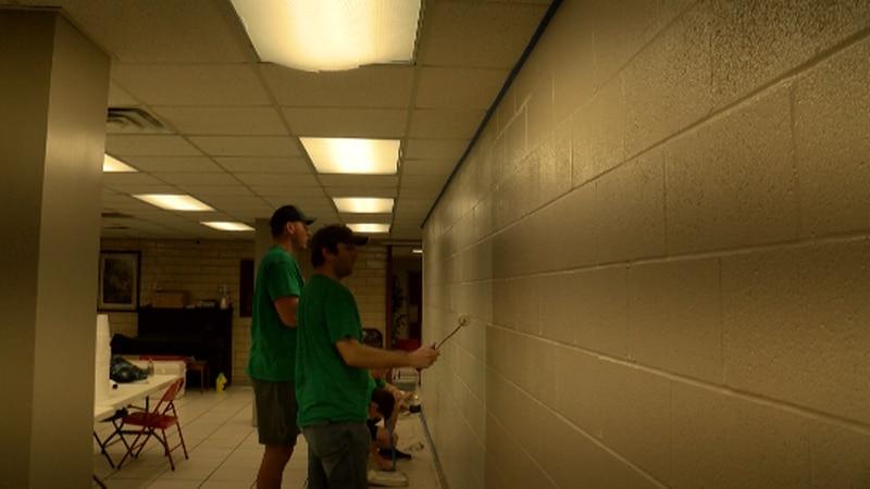There were eight volunteer locations in Hattiesburg.