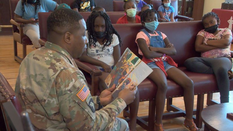 The highlight of the day was a book reading by, SFC Daryn Purcell, a member of the U.S. Army.
