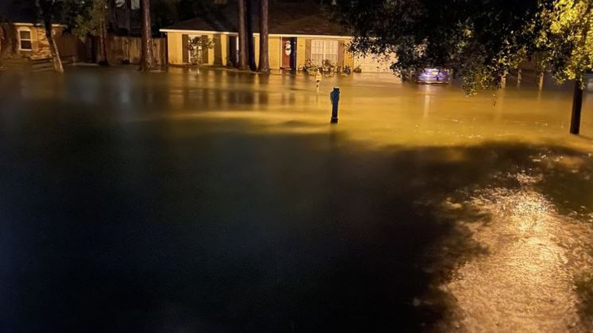 Whisperwood Subdivision in Slidell saw several inches of rain as TS Claudette moved through the...