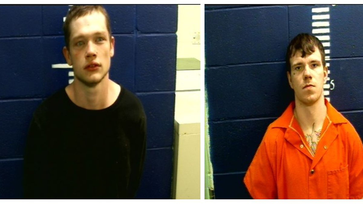 Jonathan Kane Brown (left) and Billy Takoda Hinton (right) are believed to escape the Wayne...