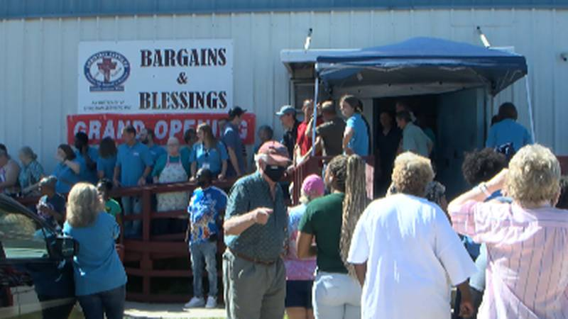 Bargains and Blessings thrift store at Christian Services in downtown Hattiesburg.